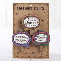 Natural Life Happy Today Thought Bubble Magnet Clip Set of 3
