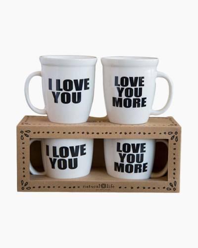 Love You More Ceramic Mug Set