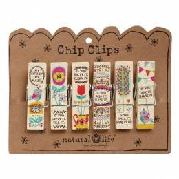 Natural Life 6-Pc. Kitchen Rules Chip Clip Set