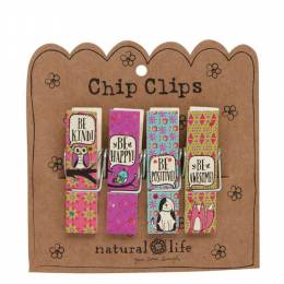 Natural Life Wooden Chip Clips