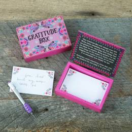 Natural Life Wooden Gratitude Box