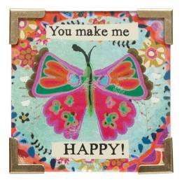 Natural Life You Make Me Happy Corner Magnet