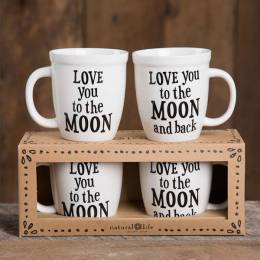 Natural Life Love You to the Moon Mug Set