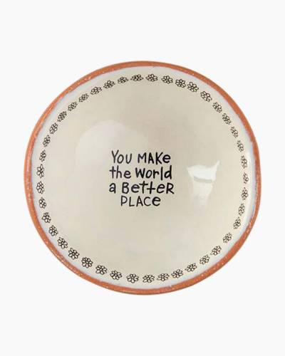 You Make the World a Better Place Tiny Trinket Dish