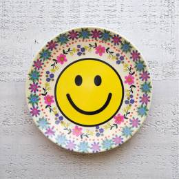 Natural Life Folk Smiley Mini Melamine Plate