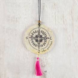 Natural Life Compass and Tassel Air Freshener