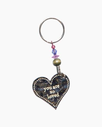 You Are So Loved Heart Keychain