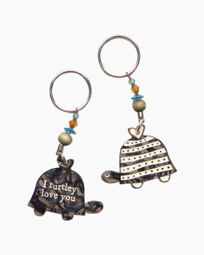 Turtley Love Keychain