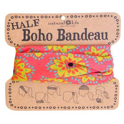 Pink & Lime Medallion Half Boho Bandeau