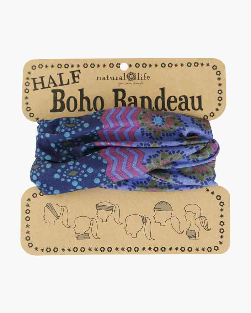 Natural Life Purple, Teal & Blue Half Boho Bandeau