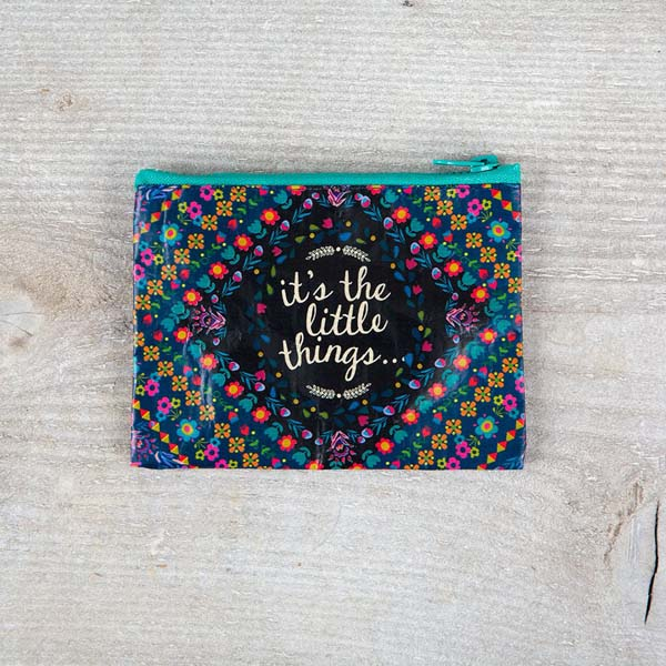 Natural Life It's the Little Things Recycled Zip Coin Purse