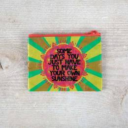 Natural Life Make Your Own Sunshine Recycled Zip Coin Purse