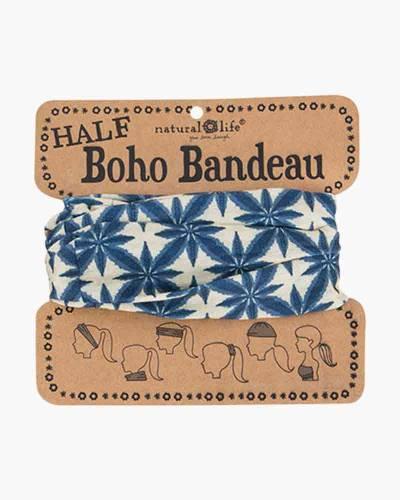 Navy and Cream Bursts Half Boho Bandeau