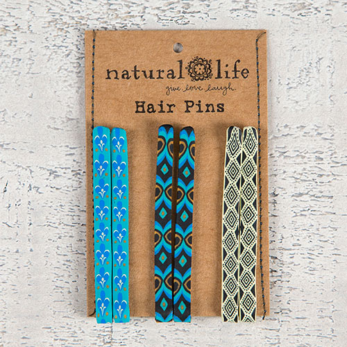 Natural Life Bright Blue Hair Pins