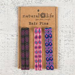 Natural Life Purple Hair Pins