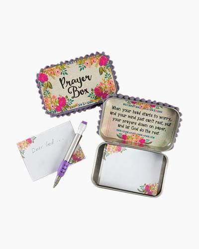 Cream and Pink Roses Prayer Box