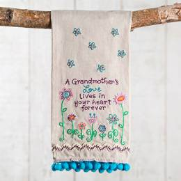 Natural Life Grandmother's Love Linen Hand Towel
