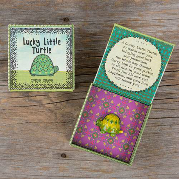 Natural Life Lucky Little Turtle Token Charm