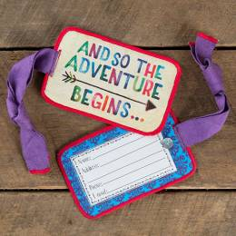 Natural Life The Adventure Begins Luggage Tag