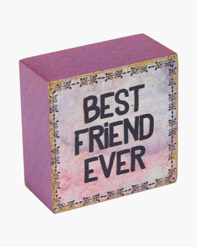 Best Friend Ever Wooden Keepsake Box Sign