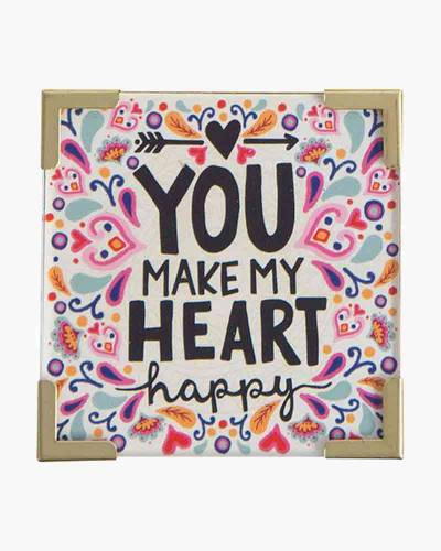 You Make My Heart Happy Corner Magnet