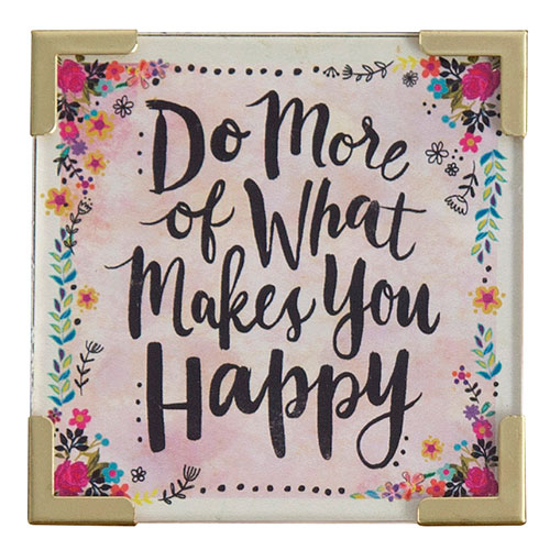 Natural Life Do What Makes You Happy Corner Magnet