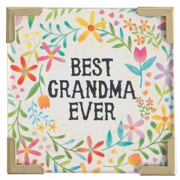 Natural Life Best Grandma Ever Corner Magnet