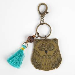 Natural Life Owl Marrakesh Keychain