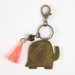 Natural Life Elephant Marrakesh Keychain