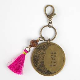 Natural Life Love You to the Moon Marrakesh Keychain