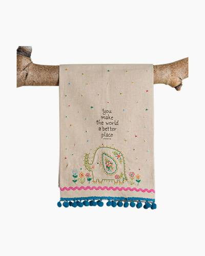 You Make the World a Better Place Linen Hand Towel