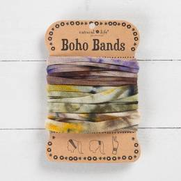 Natural Life Brown and Purple Tie-Dye Boho Bands