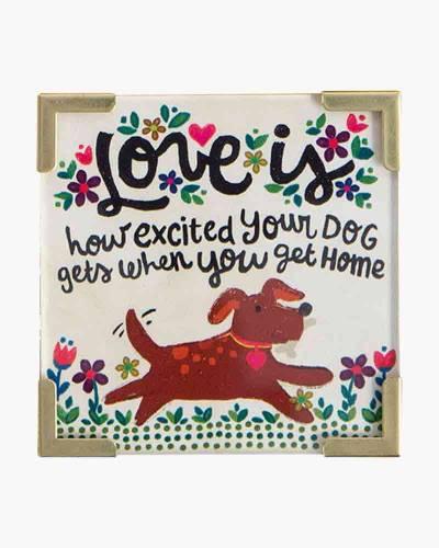 Excited Dog Corner Magnet