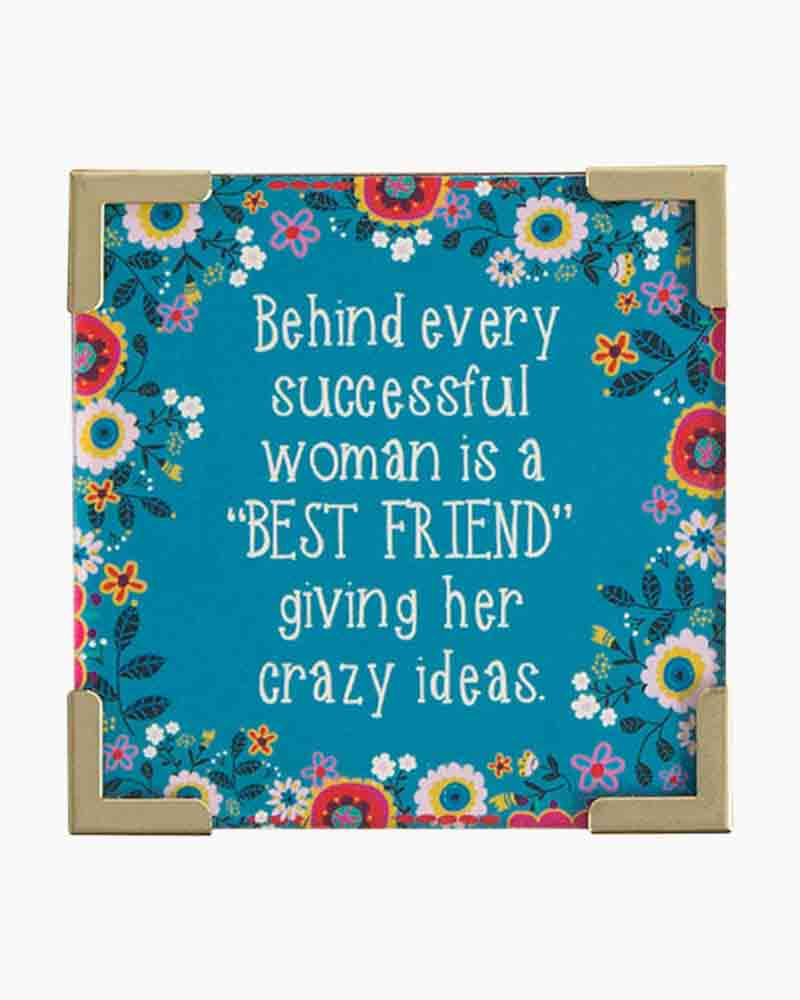 Natural Life Behind Every Successful Woman Corner Magnet