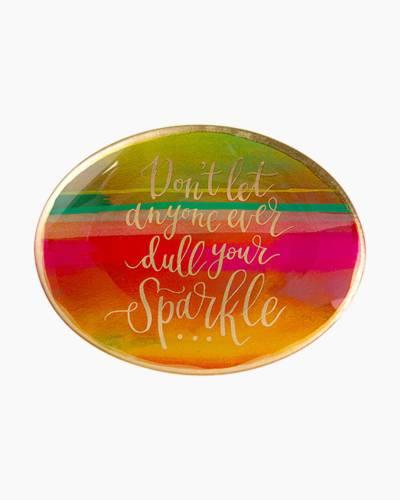 Dull Your Sparkle Rainbow Trinket Dish