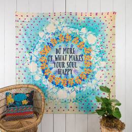 Natural Life Make Your Soul Happy Wall Tapestry