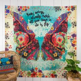 Natural Life Your Wings Already Exist Wall Tapestry