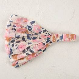 Natural Life Handkerchief Headband in Pink Cream
