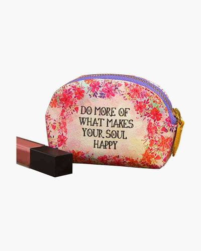 Do More of What Makes Your Soul Happy Vegan Mini Pouch