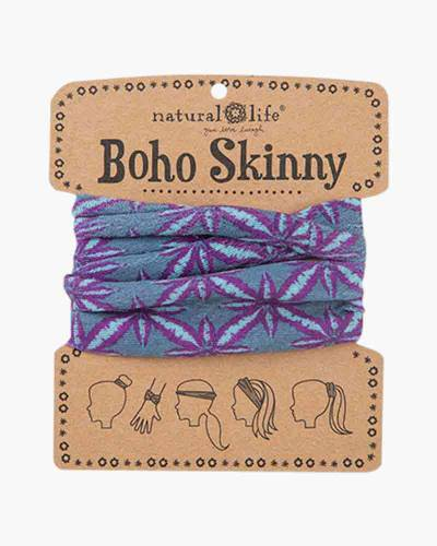 Boho Skinny in Aqua and Purple Bursts
