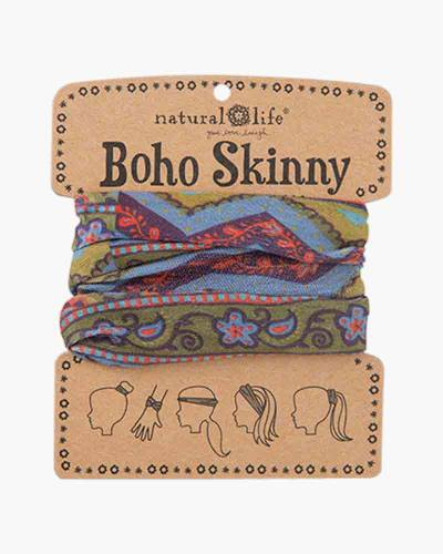 Boho Skinny in Blue and Green Zig Zags