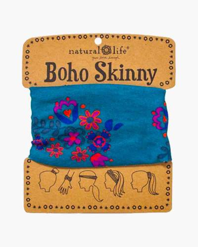 Boho Skinny in Blue and Cream Blooms