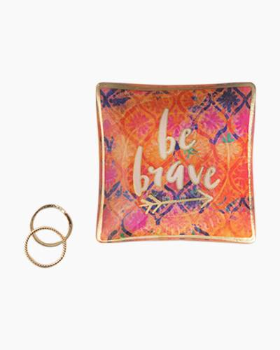 Be Brave Mini Glass Tray