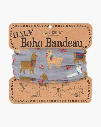 Half Boho Bandeau in Llamas