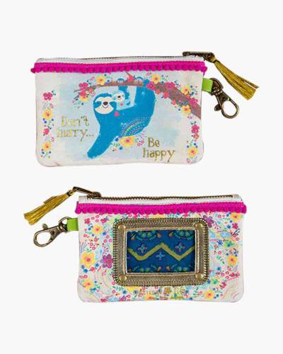 Don't Hurry Be Happy Sloth ID Pouch
