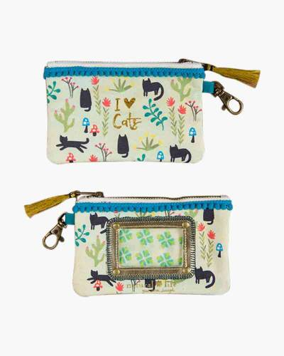 I Love Cats ID Pouch