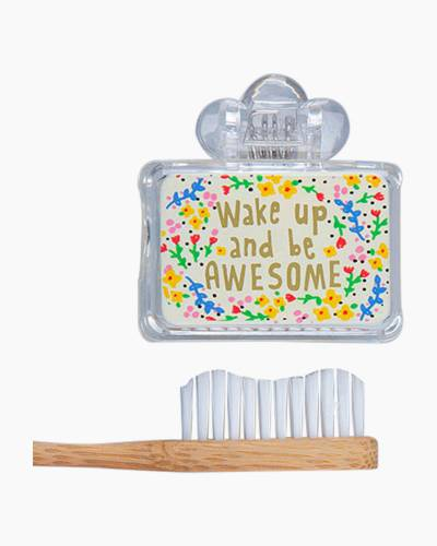 Wake Up and Be Awesome Toothbrush Cover