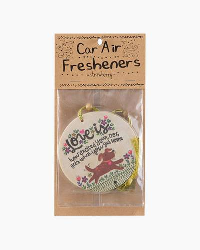 Love is Your Excited Dog Car Air Fresheners