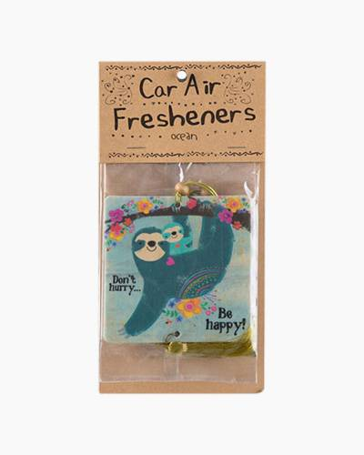 Don't Hurry Be Happy Sloth Car Air Fresheners