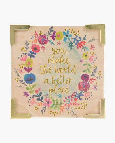 You Make the World a Better Place Corner Magnet